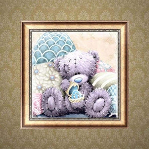 5D DIY Diamond Painting Kits Cartoon Cute Bear Present