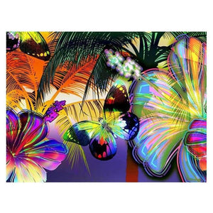 Full Drill - 5D DIY Diamond Painting Kits Dream Colorful Butterfly - NEEDLEWORK KITS