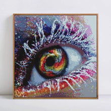 Load image into Gallery viewer, Full Drill - 5D DIY Diamond Painting Kits Dream Colorful Eye - NEEDLEWORK KITS