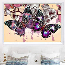 Load image into Gallery viewer, Full Drill - 5D DIY Diamond Painting Kits Dream Colorful Butterfly Flowers - NEEDLEWORK KITS