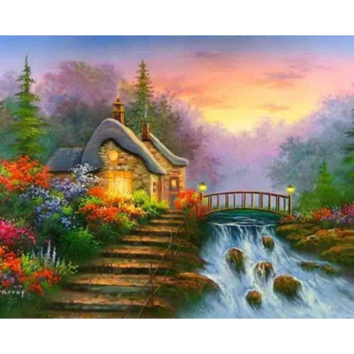 5D DIY Diamond Painting Kits Dream Landscape Cottage - 3