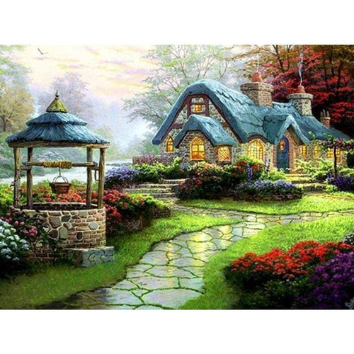 Full Drill - 5D DIY Diamond Painting Kits Dream Landscape Cottage - NEEDLEWORK KITS