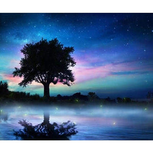 Dream Landscape Tree Sky Full Drill - 5D Diamond Painting Cross Stitch Kits VM8303 - NEEDLEWORK KITS