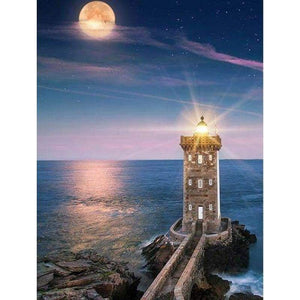 Dream Lighthouse Seaside Landscape Full Drill - 5D Diy Diamond Painting Kits VM9051 - NEEDLEWORK KITS