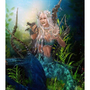 Dream Mermaid Diy Diamond Painting Kits VM9485 - NEEDLEWORK KITS
