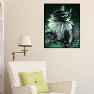 Dream Modern Art Cat Diamond Painting Full VM1089 - NEEDLEWORK KITS