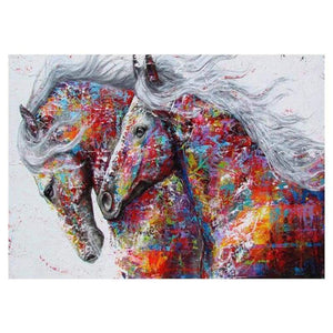 Dream Modern Art Popular Colorful Horse Diamond Painting  Kits VM1173 - NEEDLEWORK KITS