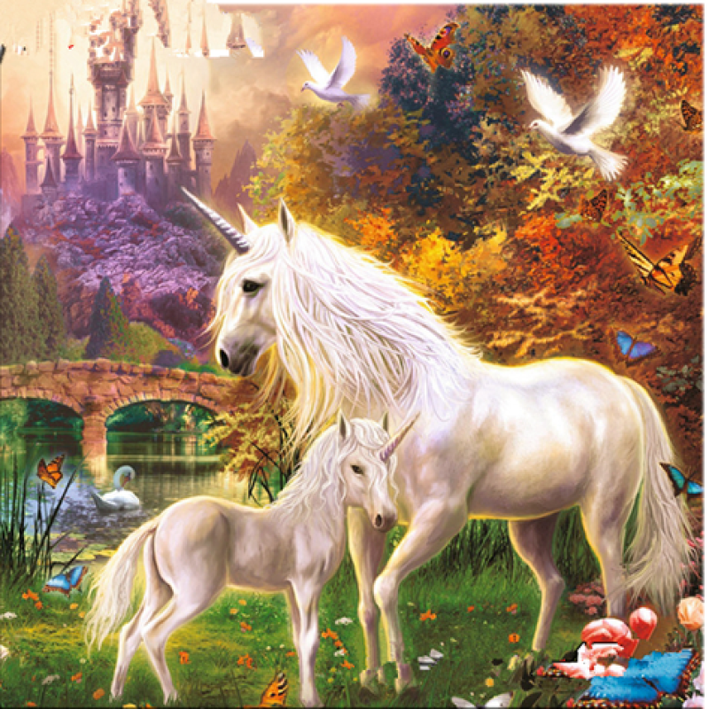 Dream Popular Unicorn Full Drill - 5D Diy Diamond Painting Kits VM7602 - NEEDLEWORK KITS