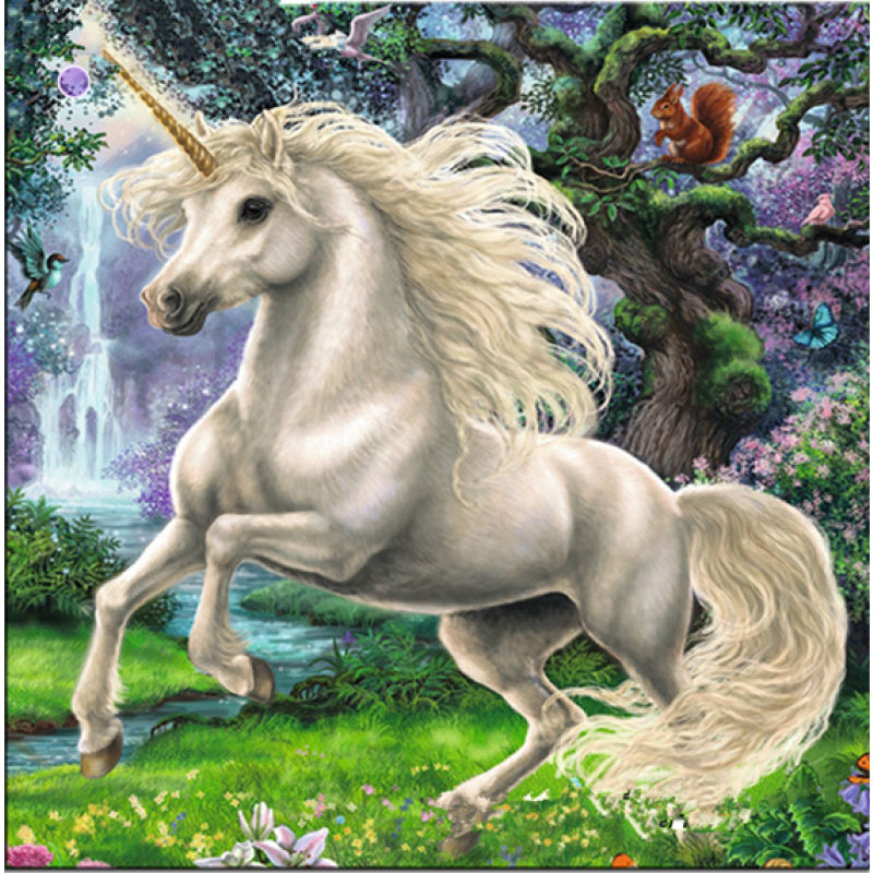 Dream Popular White Unicorn Full Drill - 5D Diy Diamond Painting Kits VM7606 - NEEDLEWORK KITS
