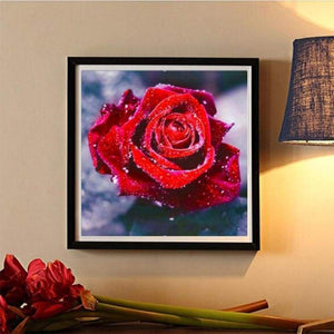 Dream Red Rose Full Drill - 5D  Diy Diamond Painting Flowers VM1404 - NEEDLEWORK KITS