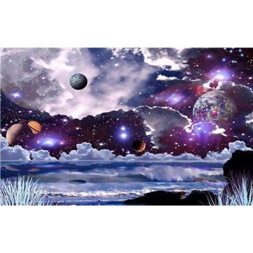 Dream Space Star Wall Decor Full Drill - 5D Diy Diamond Painting Kits VM7886 - NEEDLEWORK KITS