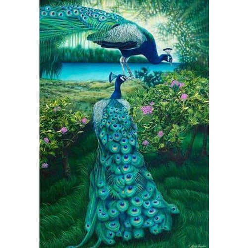 2019 Dream Square Diamond Peacock 5d Diy Diamond Painting Kits VM7357 - 5