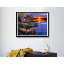 Load image into Gallery viewer, 2019 Dream Sunset Landscape Village 5d Diy Square Diamond Painting Kits VM75339 - 3