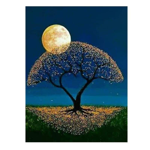 2019 Dream Trees In Night Sky 5D DIY Diamond Painting Kits VM7394 - 4
