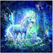 Load image into Gallery viewer, Dream Unicorns In The Jungle Full Drill - 5D Diamond Painting Set VM1105 - NEEDLEWORK KITS