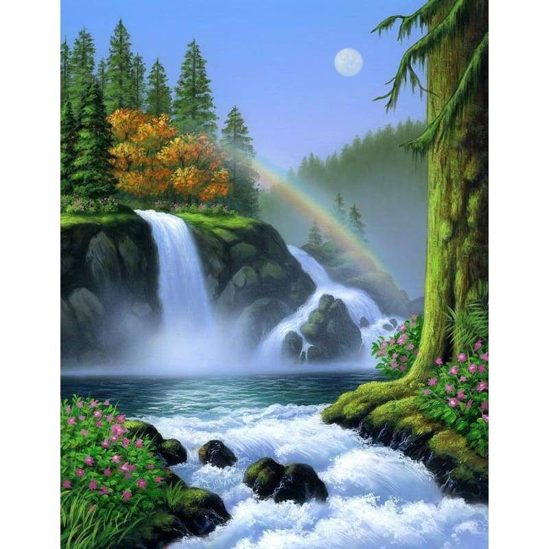 2019 Dream Waterfall Scenery Fashion Diy Diamond Paint VM01366 - NEEDLEWORK KITS