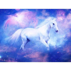 Dream White Horse Pattern Wall Decor Full Drill - 5D Diy Diamond Painting Kits VM9109 - NEEDLEWORK KITS