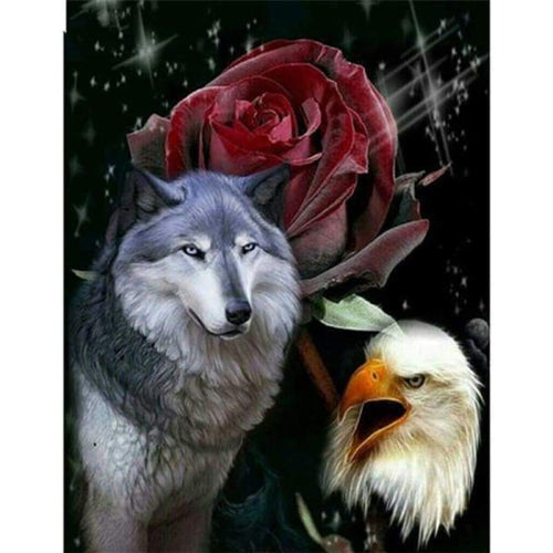 2019 Dream Wolves And Eagle Cross Stitch 5d Diy Diamond Painting Kits VM20499 - 3