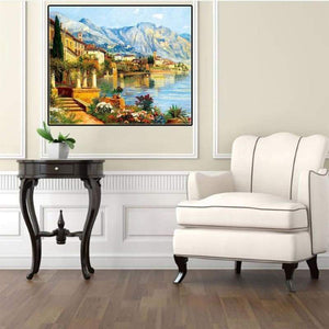 For Beginners Town Scenery Full Drill - 5D Diy Diamond Painting Cross Stitch VM3671 - NEEDLEWORK KITS