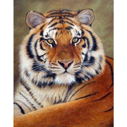 2019 Full Square Drill 5D DIY Diamond Painting Tiger Embroidery Cross Stitch - Z3