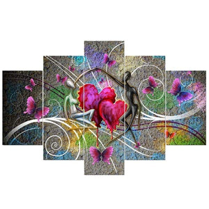 Heart Pattern Lover Large Size Full Drill - 5D Diy Diamond Painting Kits VM9132 - NEEDLEWORK KITS