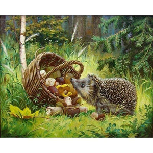 2019 Hedgehog 5D Diy Diamond Painting Kits Cross Stitch Mosaic - Z5