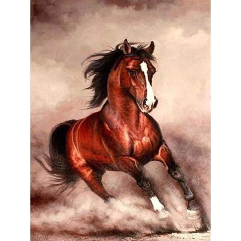 Hot Sale Animal Horse Pattern Full Drill - 5D Diy Diamond Painting Kits VM7024 - NEEDLEWORK KITS