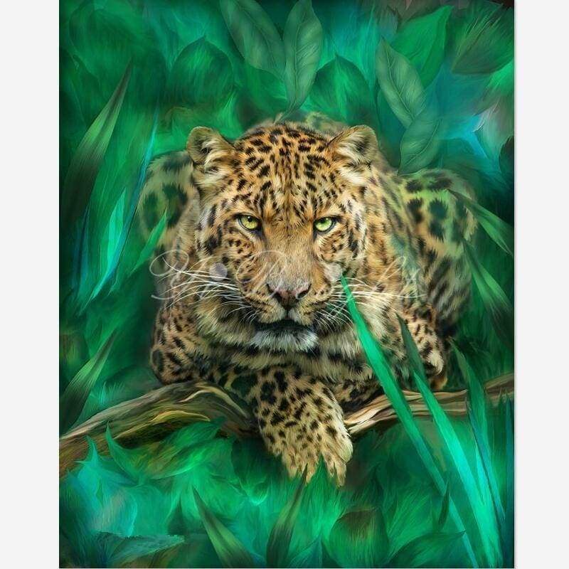 Hot Sale Animal Portrait Leopard Full Drill - 5D Diy Diamond Painting Kits VM8060 - NEEDLEWORK KITS