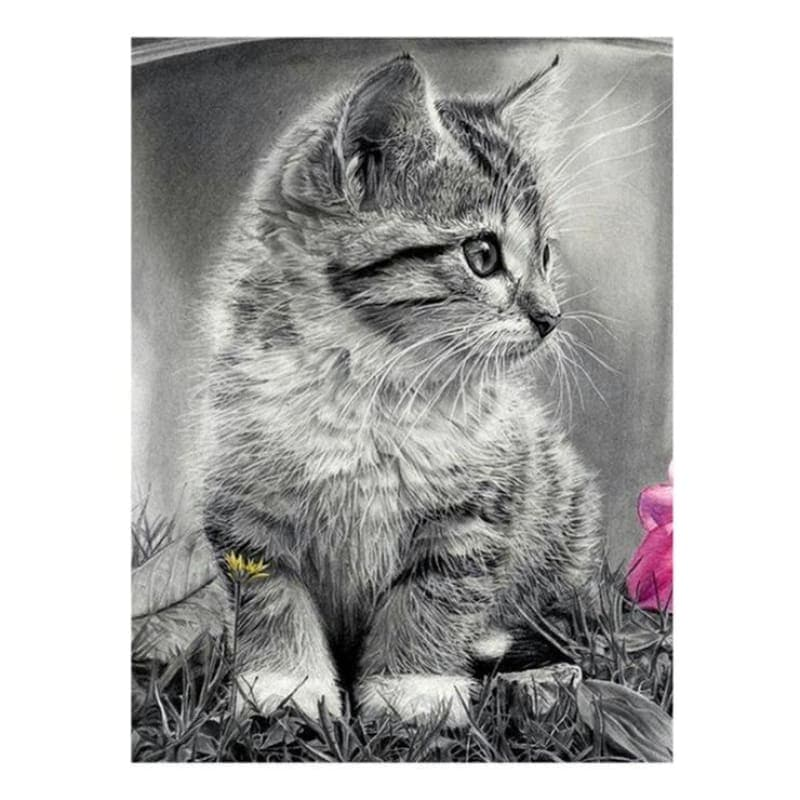 Hot Sale Black White Cat d Diy Diamond Painting Kits Cross Stitch Kits VM0027 - NEEDLEWORK KITS