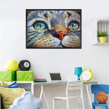Load image into Gallery viewer, Hot Sale Cat Face Full Drill - 5D Diy Embroidery Cross Stitch Diamond Painting Kits VM0002 - NEEDLEWORK KITS