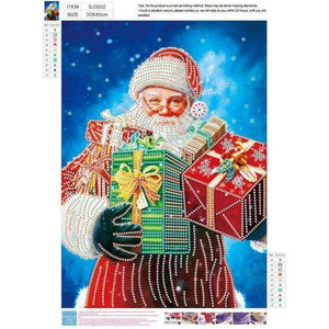 2019 Hot Sale Christmas Santa Claus 5D Diy Diamond Mosaic Cross Stitch Kits VM7572 - NEEDLEWORK KITS