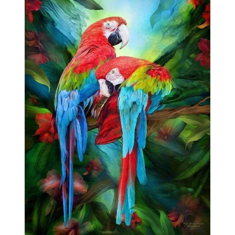 Hot Sale Colorful Parrot Full Drill - 5D Diy Diamond Painting Kits VM9214 - NEEDLEWORK KITS