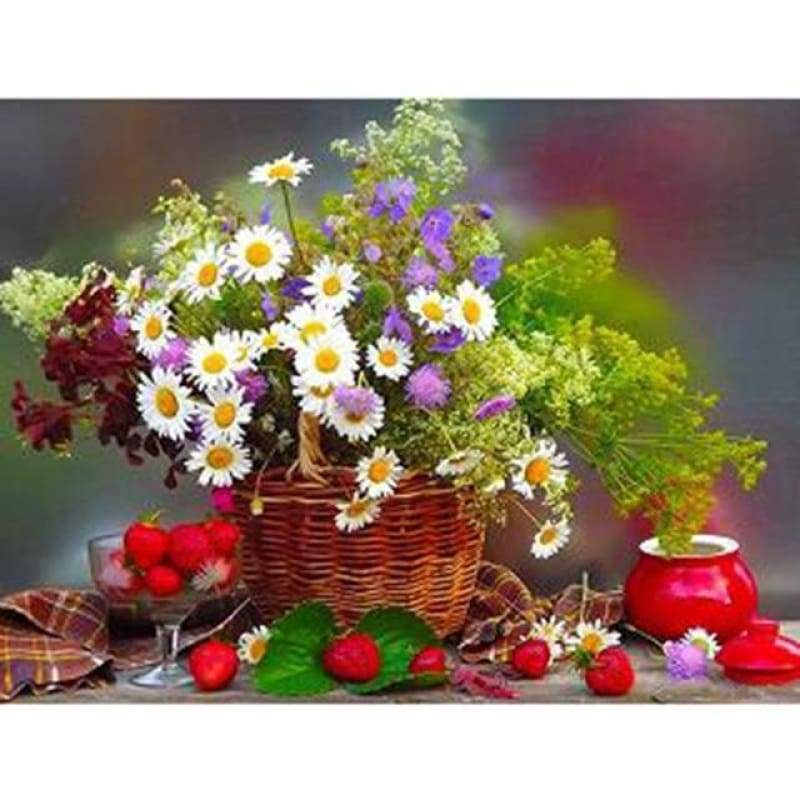 Hot Sale Crossing Home Decor Flower Full Drill - 5D DIY Diamond Painting Kits VM8282 - NEEDLEWORK KITS