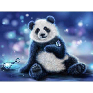Hot Sale Cute Animal Panda Picture Full Drill - 5D Diy Diamond Painting Kits VM7853 - NEEDLEWORK KITS