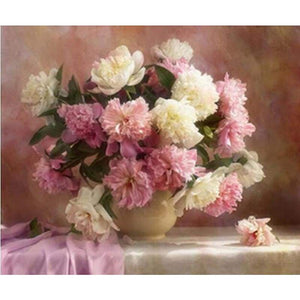 Hot Sale Flowers Pictures Wall Decor Full Drill - 5D Diy Diamond Painting Kits VM9512 - NEEDLEWORK KITS
