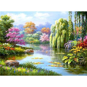 Hot Sale Landscape Natural Pattern Full Drill - 5D Diy Diamond Painting Kits VM7215 - NEEDLEWORK KITS
