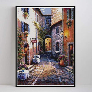 Hot Sale Landscape Street Wall Decor Full Drill - 5D Diy Diamond Painting Kits VM8123 - NEEDLEWORK KITS