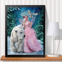 Load image into Gallery viewer, 2019 Hot Sale Modern Art Beauty And Bear Diamond Embroidery VM1081 - NEEDLEWORK KITS