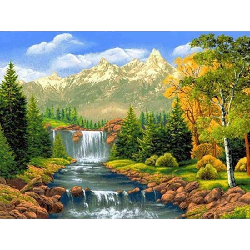 Hot Sale Nature Full Drill - 5D Diy Diamond Painting Landscape Kits VM3586 - NEEDLEWORK KITS