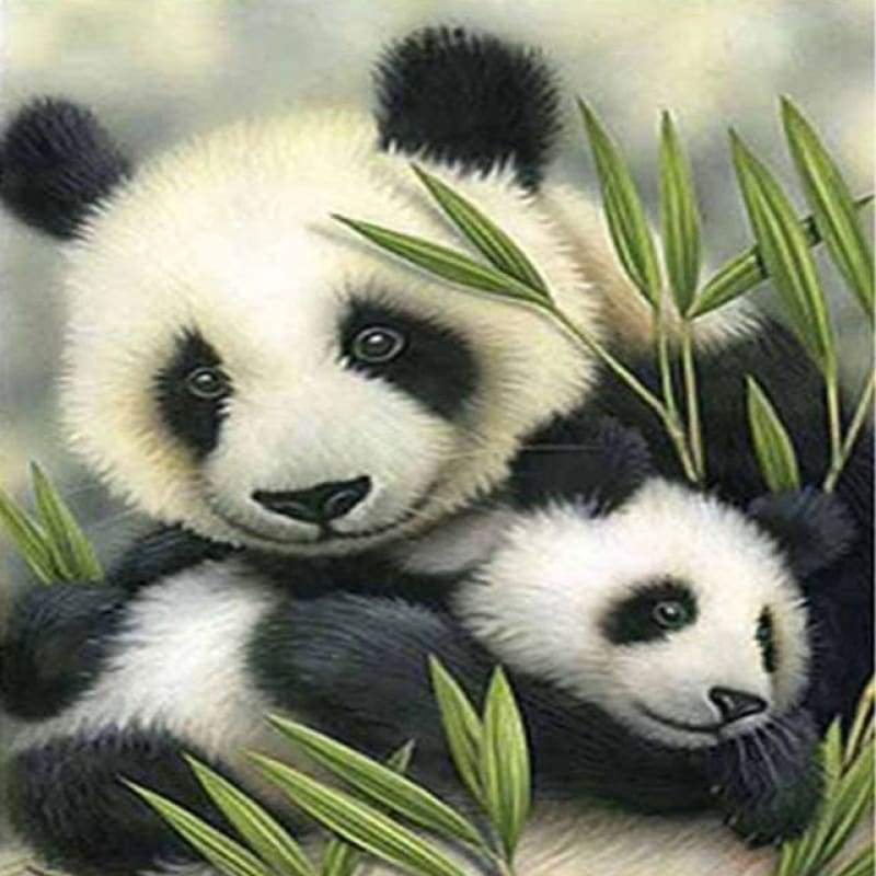 Hot Sale Pandas Pattern Full Drill - 5D Diy Crystal Painting Kits VM7319 - NEEDLEWORK KITS