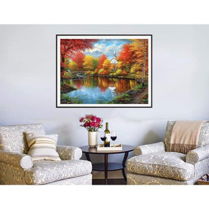 Hot Sale Popular Landscape Natural Full Drill - 5D Diy Diamond Painting Kits VM7214 - NEEDLEWORK KITS