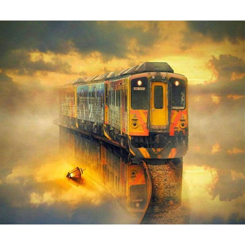 Hot Sale Popular Train Pattern Full Drill - 5D Diamond Painting Kits VM8031 - NEEDLEWORK KITS