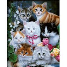 Load image into Gallery viewer, Hot Sale Wall Decor Animal Cute Cats Full Drill - 5D Diy Painting By Crystal Kits VM7455 - NEEDLEWORK KITS
