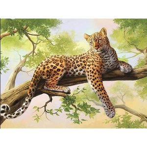 2019 Hot Sale Wall Decor Animal Leopard Portrait 5d Cross Stitch Kits VM8409 - NEEDLEWORK KITS