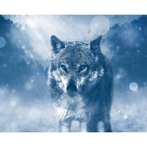 Hot Sale Wall Decor Animal Wolf Full Drill - 5D Diy Diamond Painting Kits VM7428 - NEEDLEWORK KITS