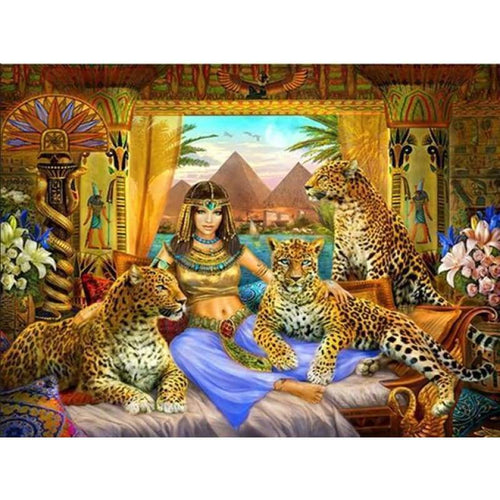 2019 Hot Sale Wall Decor Leopard Beauty And Animal 5d Cross Stitch Kits VM8415 - 4