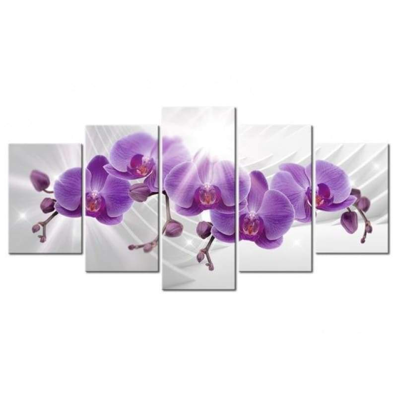 Large Size Multi Picture Panel Lavender Flower Full Drill - 5D Diy Diamond Painting Kits VM7911 - NEEDLEWORK KITS