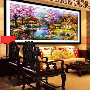 Large Sizes Wall Decor Landscape Nature Full Drill - 5D Diy Diamond Painting Kits VM7889 - NEEDLEWORK KITS