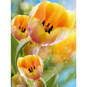 Modern Art Beautiful Yellow Flower Full Drill - 5D Embroidery Painting VM1977 - NEEDLEWORK KITS