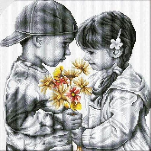 2019 Modern Art Boy And Girl 5d Diy Embroidery Diamond Painting Kits NA0956